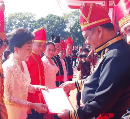 Upacara memperingati HUT Provinsi Sulawesi Utara ke-55